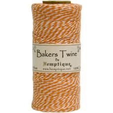 Двухслойный хлопковый шнур Baker's Twine, 1 м, оранжевый, Hemptique