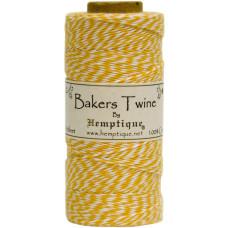 Двухслойный хлопковый шнур Baker's Twine, 1 м, желтый, Hemptique