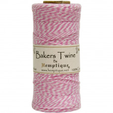 Двухслойный хлопковый шнур Baker's Twine, 1 м розовый, Hemptique