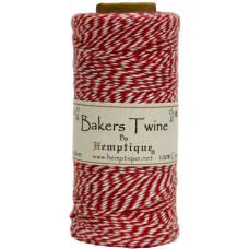 Двухслойный хлопковый шнур Baker's Twine, 1 м, красный, Hemptique