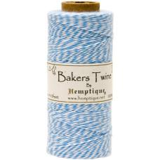 Двухслойный хлопковый шнур Baker's Twine, 1 м, голубой, Hemptique