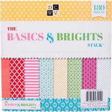 Набор бумаги Basics & Brights, 60 листов от DCWV
