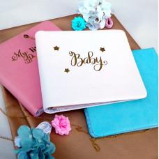 Бебибук Baby, размер 20х20 см, 23 листа, белая обложка из кожзама