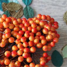 Калина декоративная оранжевая, 2 шт на веточке, 1 см