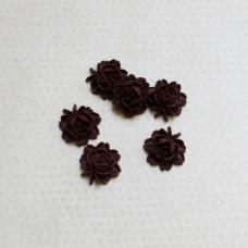 Кабошон Цветок 18 мм, бордовый