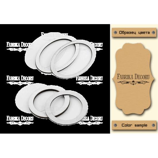 Набор заготовок для шейкеров Круг и овал 6x6-6x8,5 Kraft_Milk Фабрика Декору