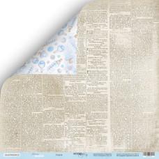 Лист двусторонней бумаги 30x30  Газета Mommy's Hero Scrapmir