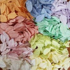 Набор листиков розы в пастельных тонах, без стебля, 10 шт., 40 мм.