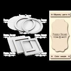 Набор заготовок для шейкеров Круг и квадрат 6x6-6x6 бежевый Фабрика Декору