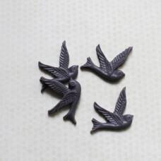 Кабошон Птичка 26х28 мм, фиолетовый, 1 шт.