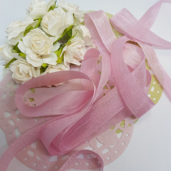 Шебби-лента Ash Pink от компании Hug Snug, 14 мм, 90 см