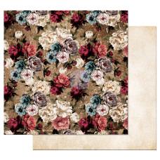 Двусторонняя бумага  More roses please - Midnight Garden, с фольг.,  30х30 см, Prima
