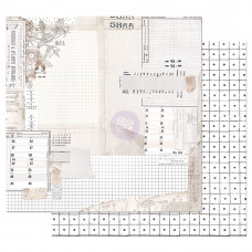 Двусторонняя бумага The Last Hour - Pretty Pale, с фольг. 30х30 см, Prima