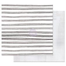 Двусторонняя бумага Blurred Lines - Pretty Pale, с фольг. 30х30 см, Prima