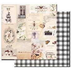 Двусторонняя бумага Beautiful life - Spring Farmhouse, с фольг. 30х30 см, Prima