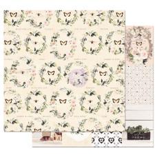 Двусторонняя бумага Full Heart- Spring Farmhouse, с фольг. 30х30 см, Prima