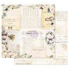 Двусторонняя бумага Gather- Spring Farmhouse, с фольг. 30х30 см, Prima
