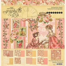Набор скрапбумаги Princess 16 листов + наклейки 30х30 Graphic45