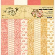 Набор фоновой скрапбумаги Princess 8 листов 30х30 Graphic45