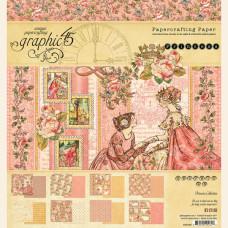 Набор двусторонней скрапбумаги Princess 20х20 см 8 листов Graphic 45