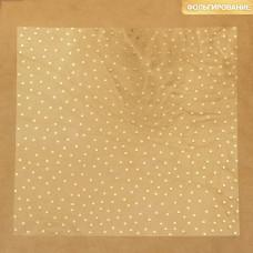 Ацетатный лист с фольгированием «Золотой горошек», 30,5х30,5 см, Артузор