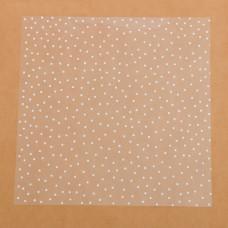 Ацетатный лист Белый горошек, 30,5х30,5 см, Артузор