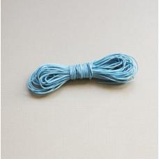 Вощеный шнур голубого цвета 5 м.