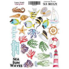 Набор наклеек (стикеров) #017, Sea breeze, 21х16 см, Фабрика Декора
