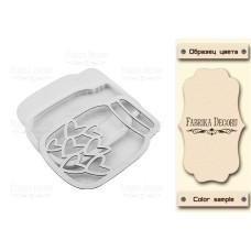 Заготовка для шейкера Hearts in jar 10,3х7,5, цвет молочный, Фабрика Декора