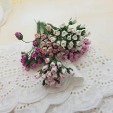 Набор бутонов роз, 4-5 мм, в розовых тонах, 10 шт