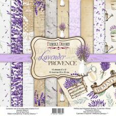 Набор скрапбумаги Lavender Provence, 20x20см, 10+1 листов, Фабрика Декору