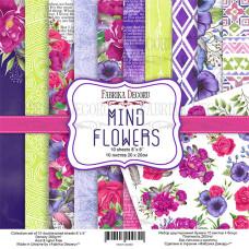 Набор скрапбумаги Mind Flowers, 20x20см, 10+1 листов, Фабрика Декору