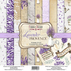 Набор скрапбумаги Lavender Provence, 30,5x30,5см, 10+1 л., Фабрика Декору