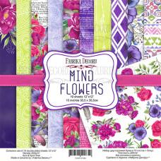 Набор скрапбумаги Mind Flowers, 30,5x30,5см, 10+1 л., Фабрика Декору