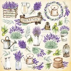 Лист с картинками для вырезания, Lavender Provence, Фабрика Декору