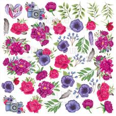 Лист с картинками для вырезания, Mind Flowers, Фабрика Декору