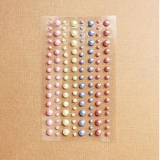 Набор полужемчужин разных цветов, 120 шт.