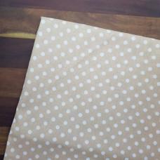Ткань хлопок Горох бежевый, 35х70 см