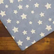Ткань хлопок Звезды синие, 25х50 см