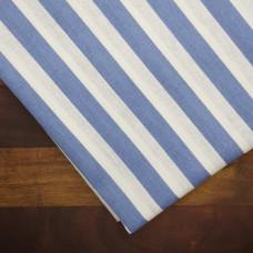 Ткань хлопок Полоса синяя, 35х70 см