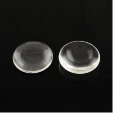 Полукруглый прозрачный кабошон, стекло, 16 мм, 4-5 мм