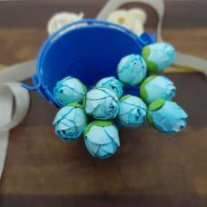 Бутон пионов, 5 шт, 15 мм, голубой, Цветочная Фея