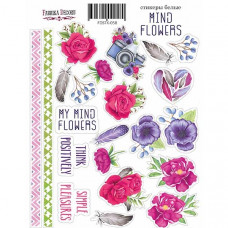 Набор наклеек (стикеров) #058, Mind Flowers, Фабрика Декору