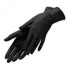 Перчатки нитриловые черные, 1 пара