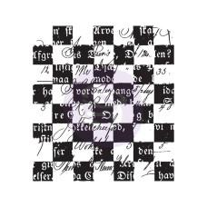Акриловый штамп Checker Texts - Prima
