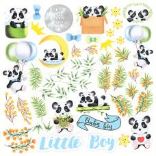 Лист с картинками для вырезания My little panda boy, Фабрика Декору
