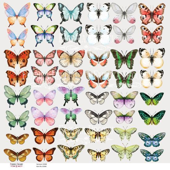 Лист с картинками для вырезания Бабочки-1, Фабрика Декору