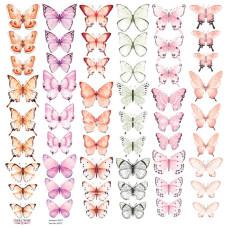 Лист с картинками для вырезания Бабочки-5, Фабрика Декору