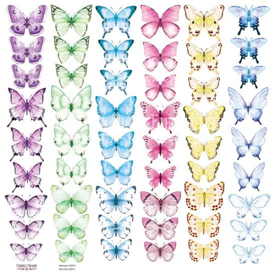 Лист с картинками для вырезания Бабочки-6, Фабрика Декору