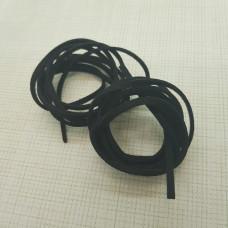 Замшевый шнур, черный, 120 см, 3 мм
